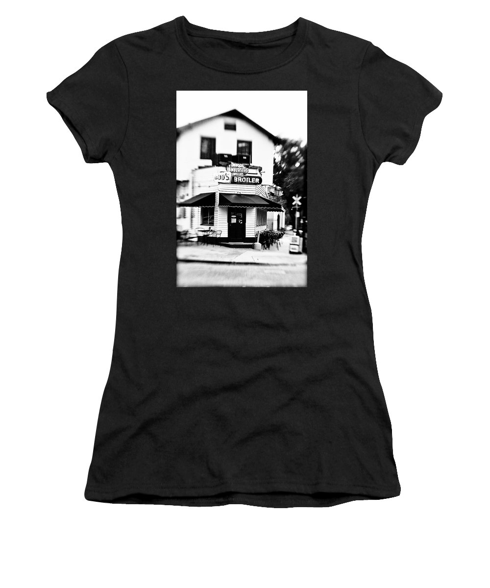 Black&white Women's T-Shirt (Athletic Fit) featuring the photograph Buds by Scott Pellegrin