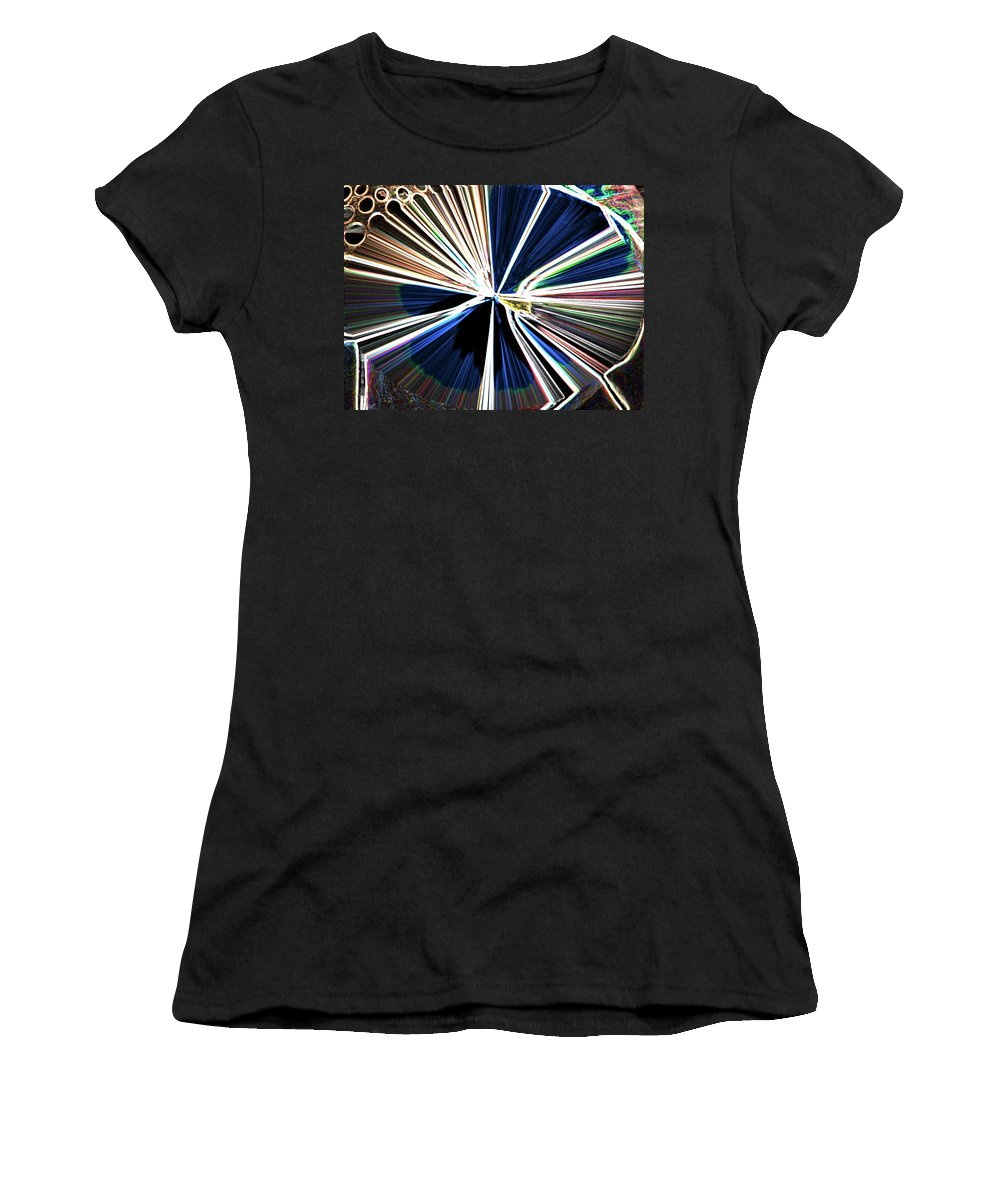 Abstract Women's T-Shirt featuring the digital art Bullets In The Chamber by Lenore Senior