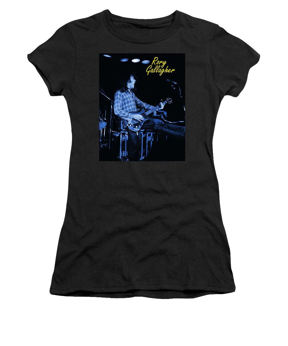 Rock Musicians Women's T-Shirt featuring the photograph Bullfrog Blues 2 by Ben Upham