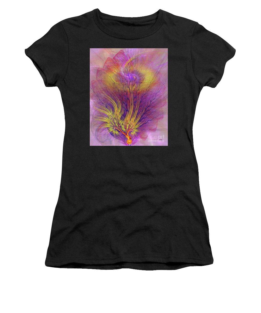 Burning Bush Women's T-Shirt featuring the digital art Burning Bush by John Beck