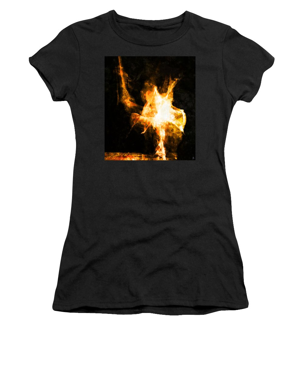 Burning Man Women's T-Shirt (Athletic Fit) featuring the photograph Burning Man by Ken Walker