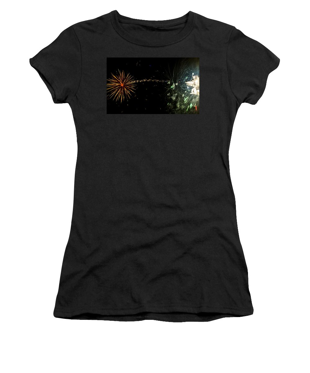Mccall Women's T-Shirt (Athletic Fit) featuring the photograph Burst Trail by Angus Hooper Iii