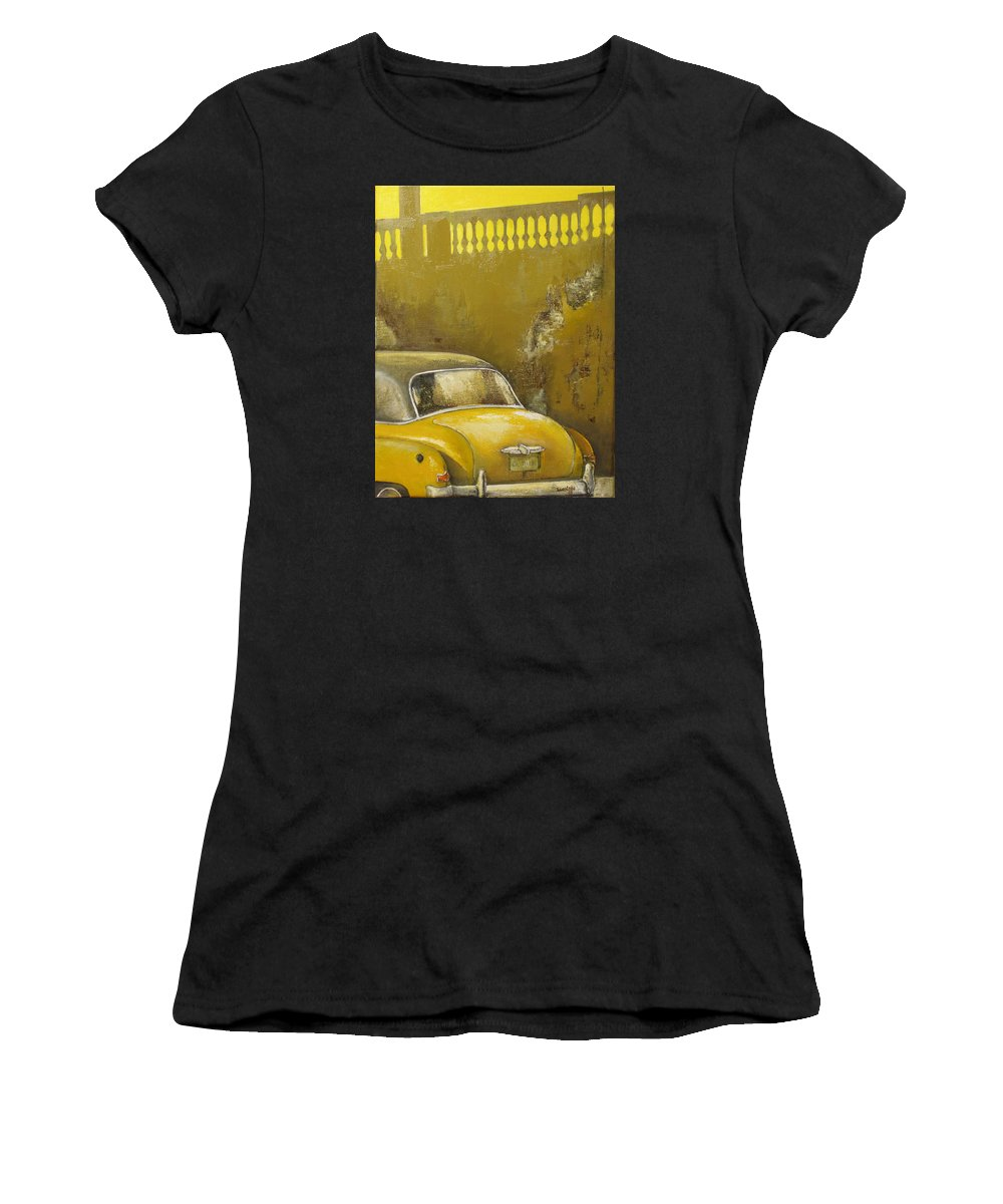 Havana Women's T-Shirt (Athletic Fit) featuring the painting Buscando La Sombra by Tomas Castano