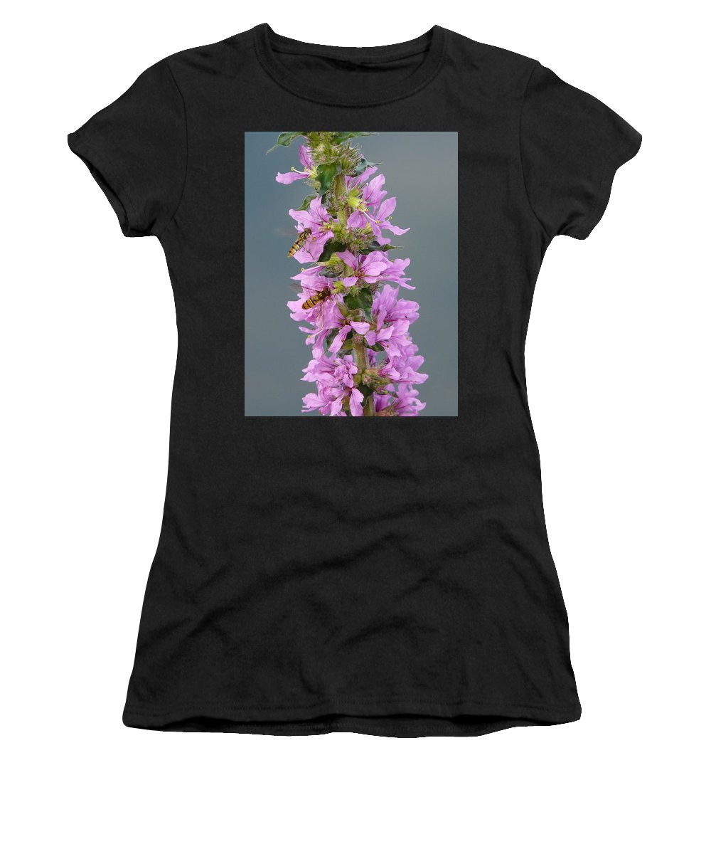 Flower Women's T-Shirt (Athletic Fit) featuring the photograph Busy Flower by Valerie Ornstein