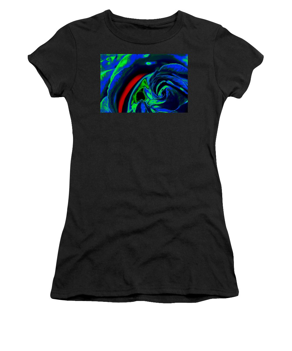Rose Women's T-Shirt (Athletic Fit) featuring the photograph Butler Rose IIi by Michael McGowan