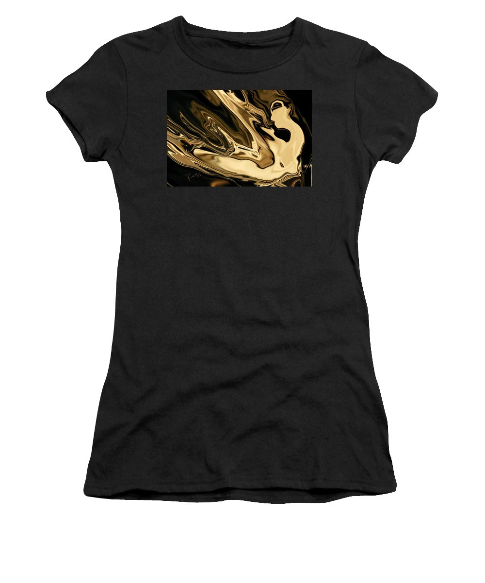 Abstract Women's T-Shirt (Athletic Fit) featuring the digital art Butterfly Girl 3 by Rabi Khan