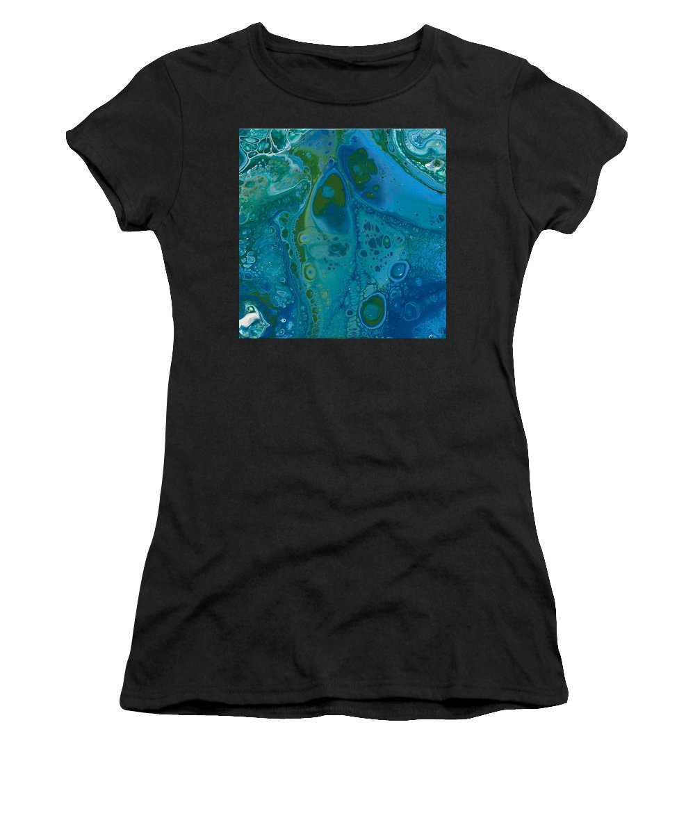Blue Women's T-Shirt featuring the painting Butterfly by Nicole Hall