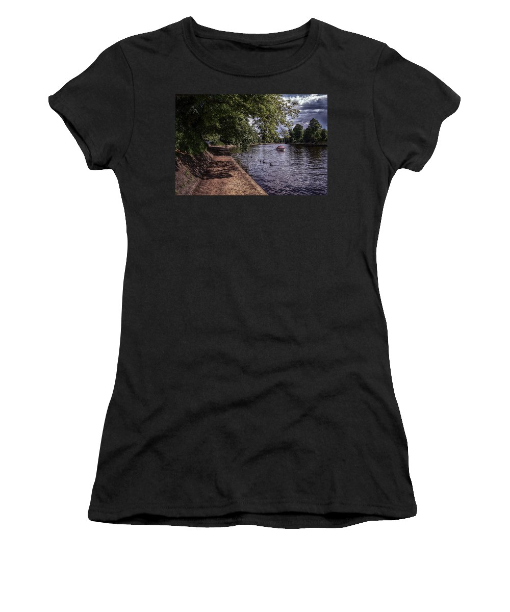 By Women's T-Shirt (Athletic Fit) featuring the mixed media By The River Ouse by Mark Hunter