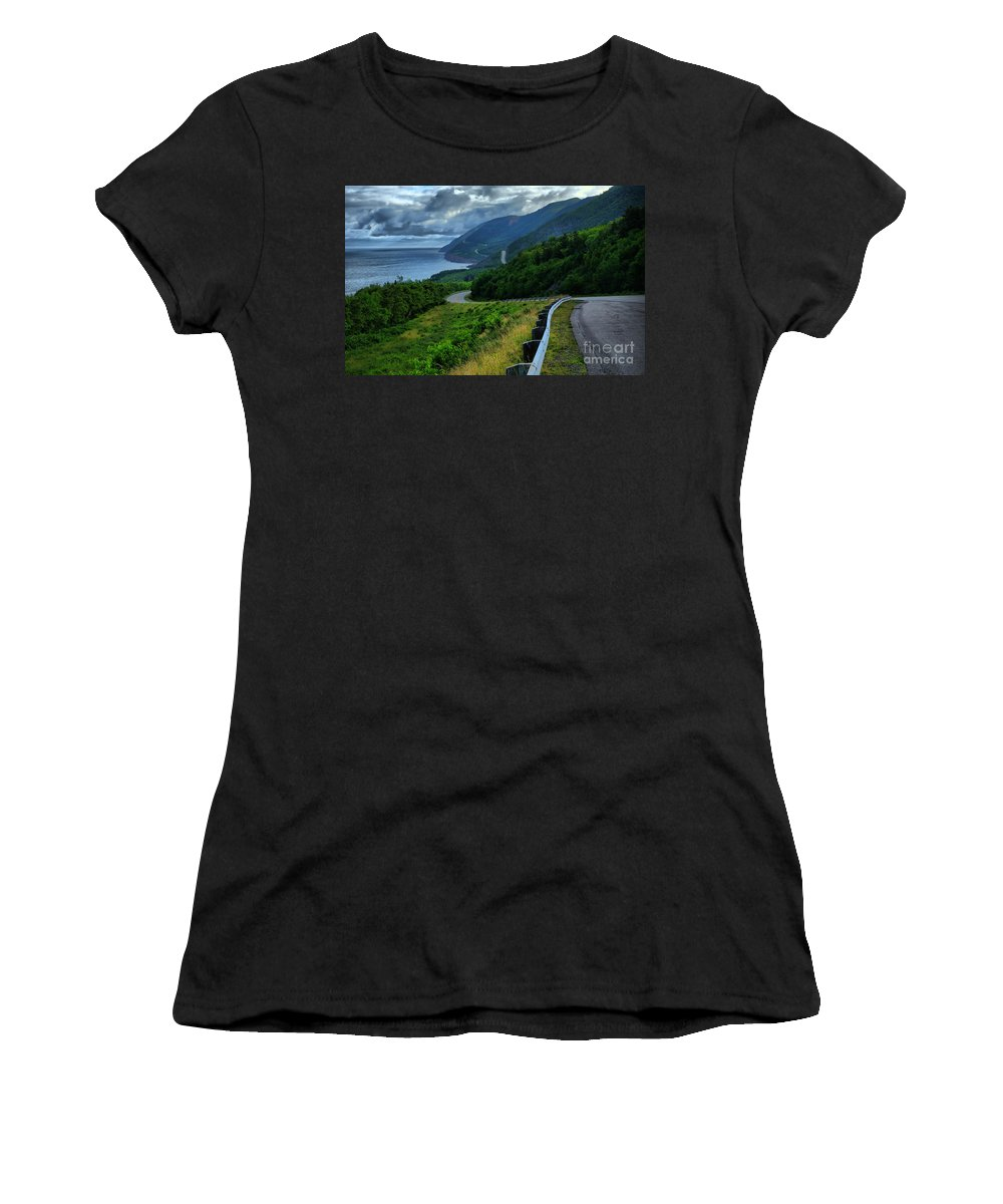 Nova Scotia Women's T-Shirt (Athletic Fit) featuring the photograph Cabot Trail by Joe Ng