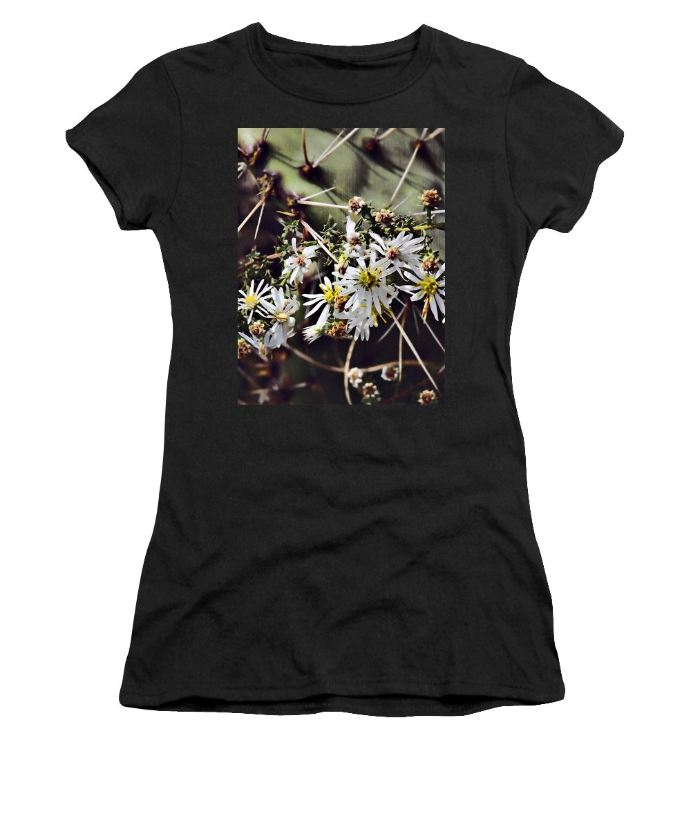 Cactus Women's T-Shirt featuring the photograph Cactus Flowers by Scott Wyatt