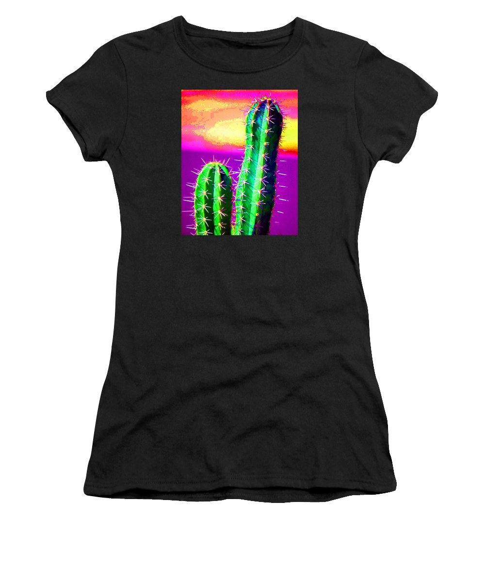 Cactus Women's T-Shirt (Athletic Fit) featuring the photograph Cactus by John Malmquist