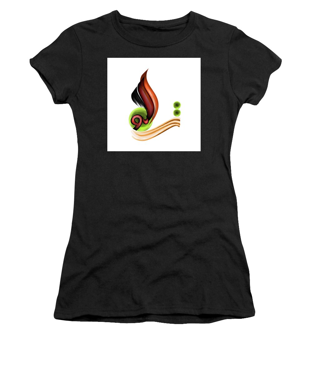 Abstract Women's T-Shirt featuring the painting Calligraphy 109 2 by Mawra Tahreem