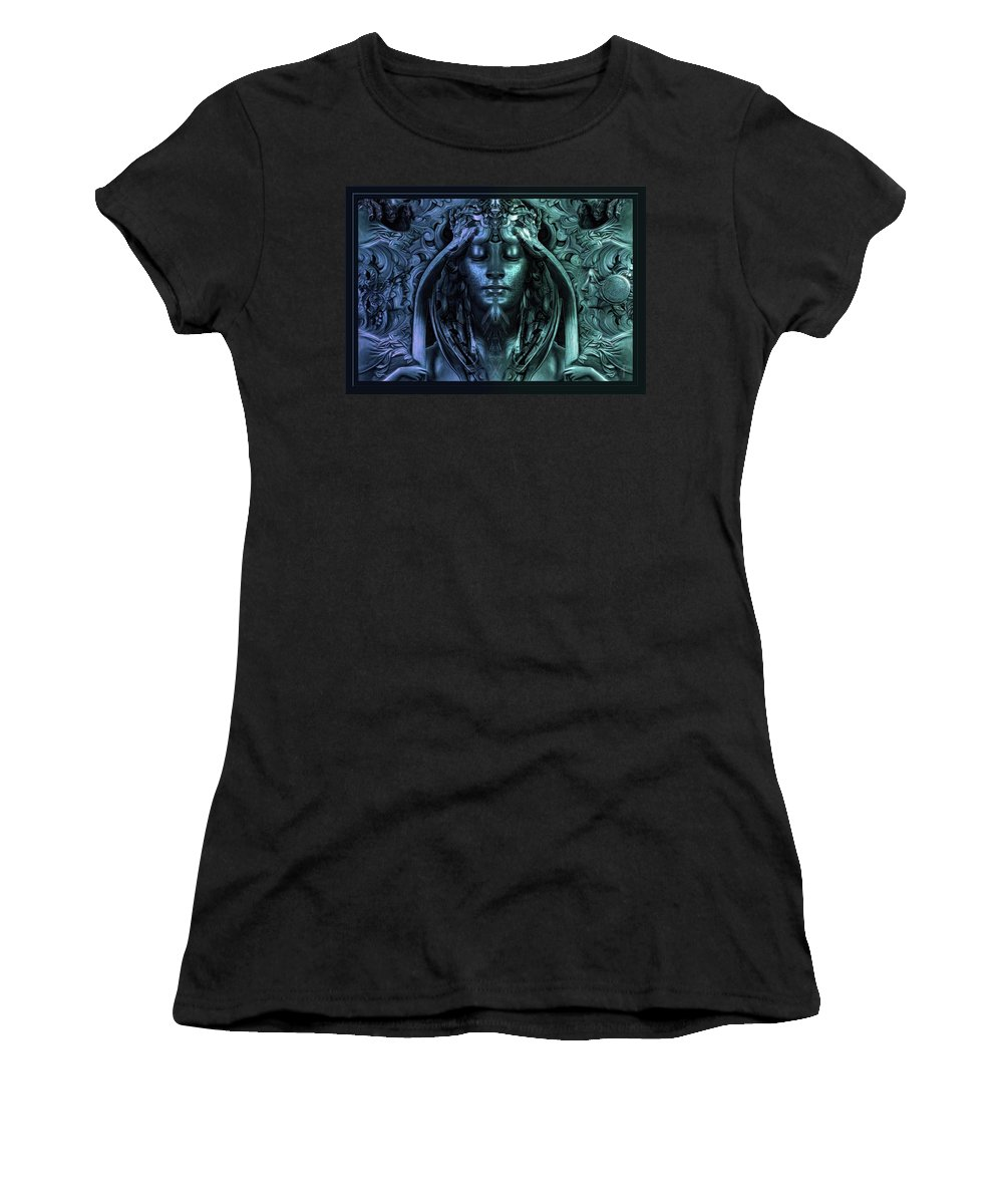 Calliope - The Superior Muse Women's T-Shirt featuring the photograph Calliope - The Superior Muse by Daniel Arrhakis