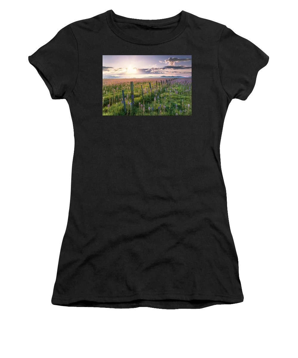 Beautiful Women's T-Shirt (Athletic Fit) featuring the photograph Camas Marsh 3 by Leland D Howard