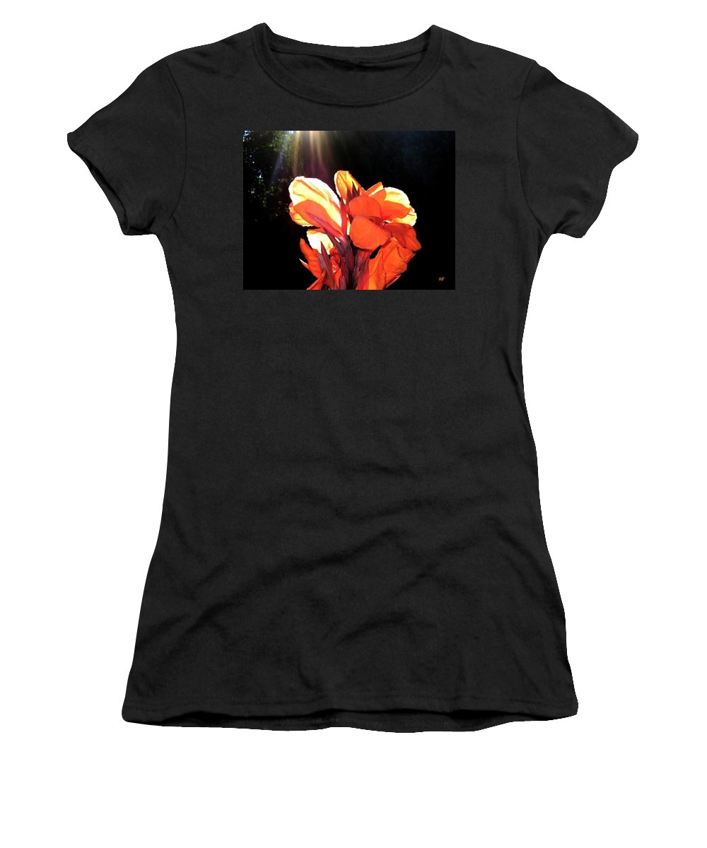 Canna Lily Women's T-Shirt (Athletic Fit) featuring the photograph Canna Lily by Will Borden