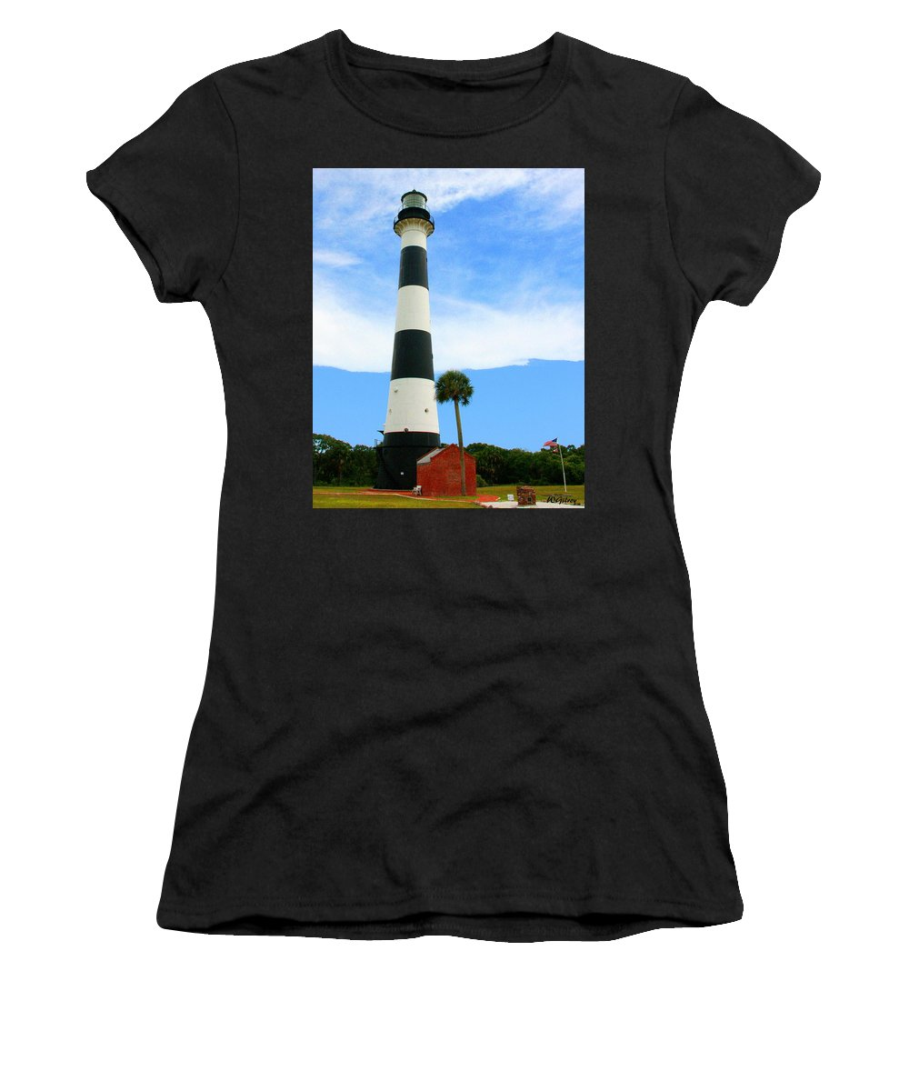 Lighthouse Women's T-Shirt featuring the photograph Cape Canaveral Lighthouse by W Gilroy