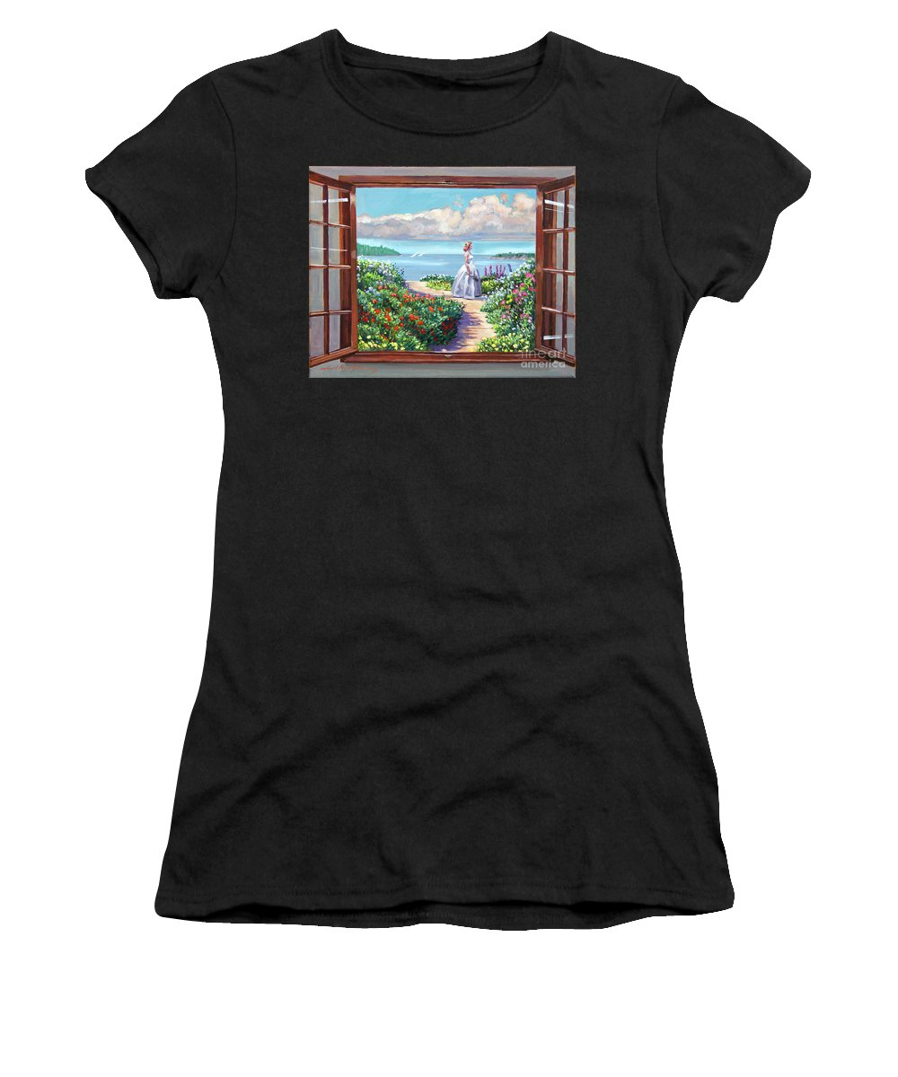 Fantasy Women's T-Shirt (Athletic Fit) featuring the painting Cape Cod Beauty by David Lloyd Glover