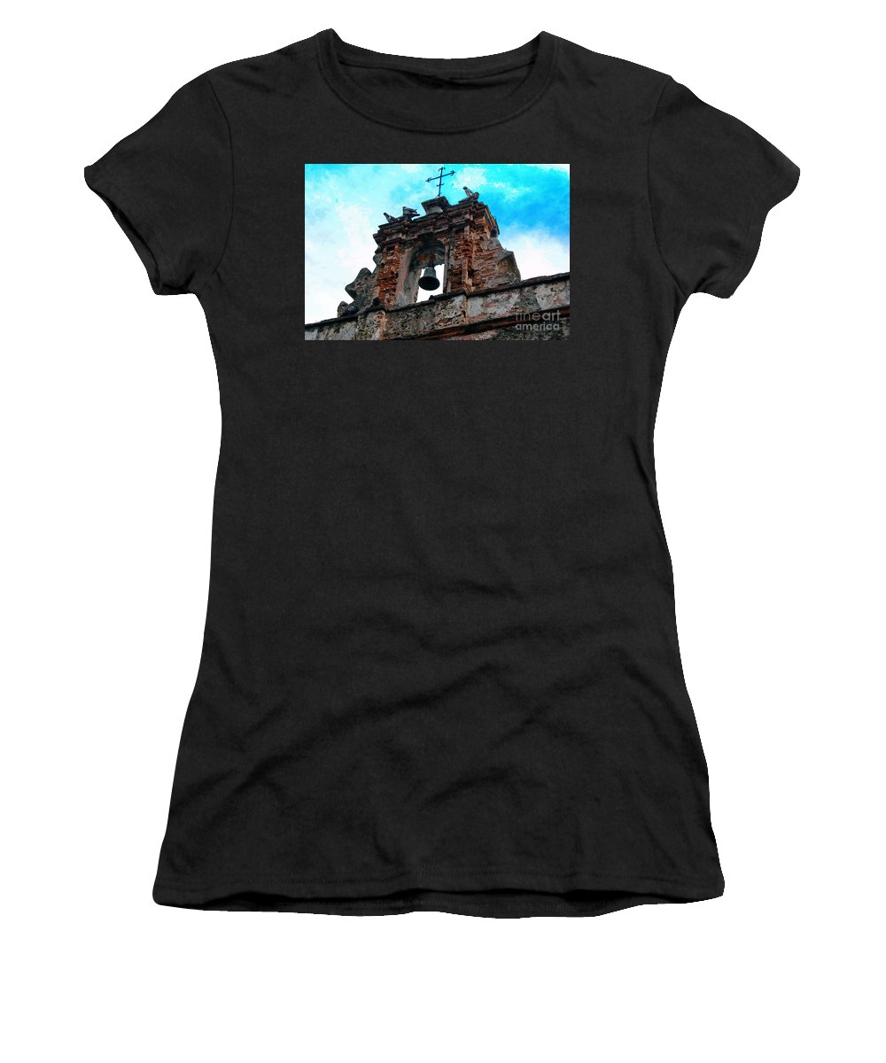 San Juan Women's T-Shirt (Athletic Fit) featuring the photograph Capilla De Cristo  by Debbi Granruth