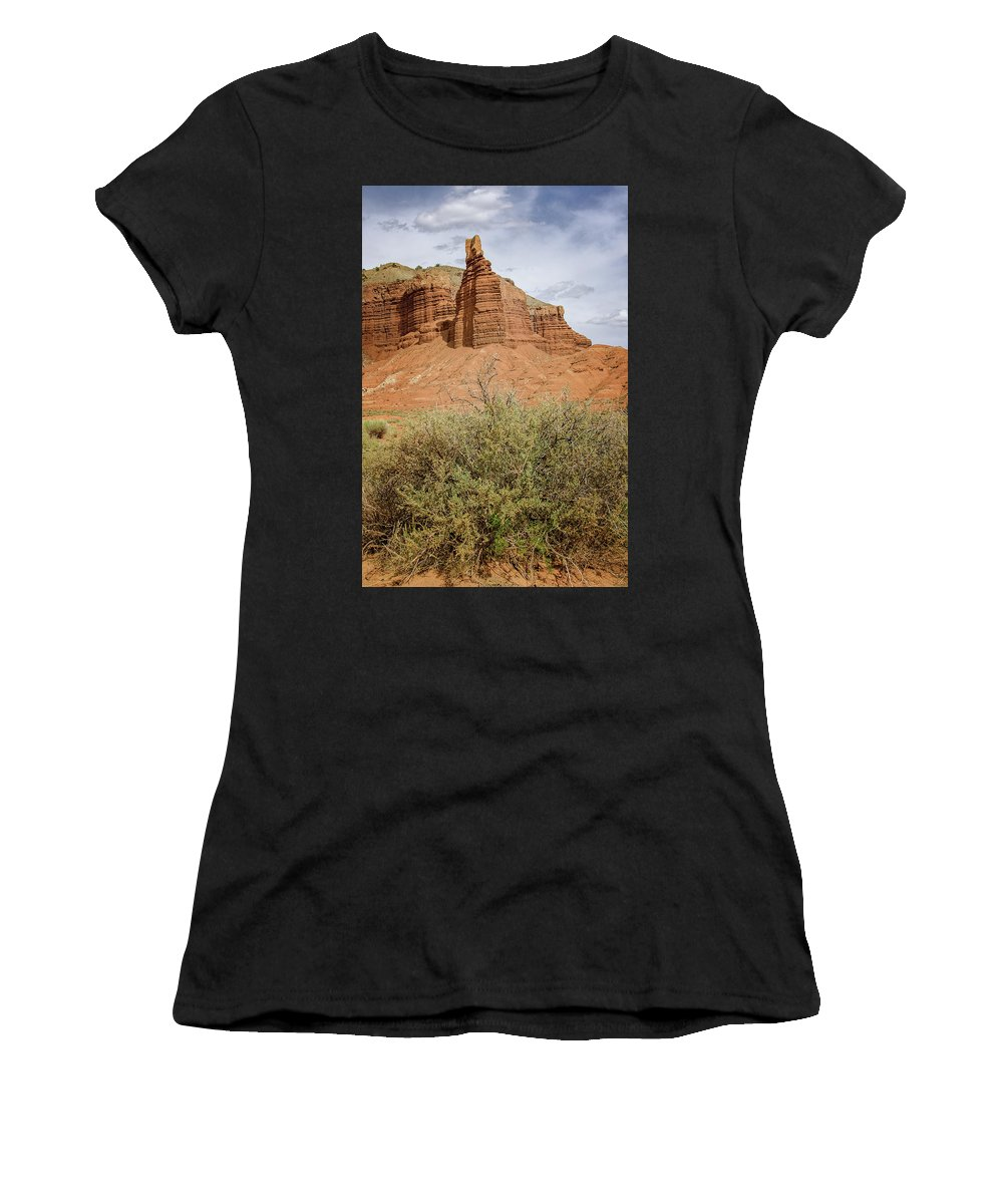 Capitol Reef 1 Women's T-Shirt (Athletic Fit) featuring the photograph Capitol Reef 1 by Susan McMenamin