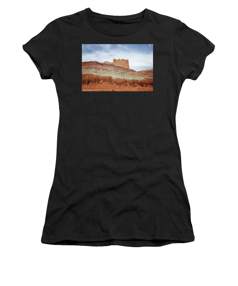 Capitol Reef 2 Women's T-Shirt (Athletic Fit) featuring the photograph Capitol Reef 2 by Susan McMenamin