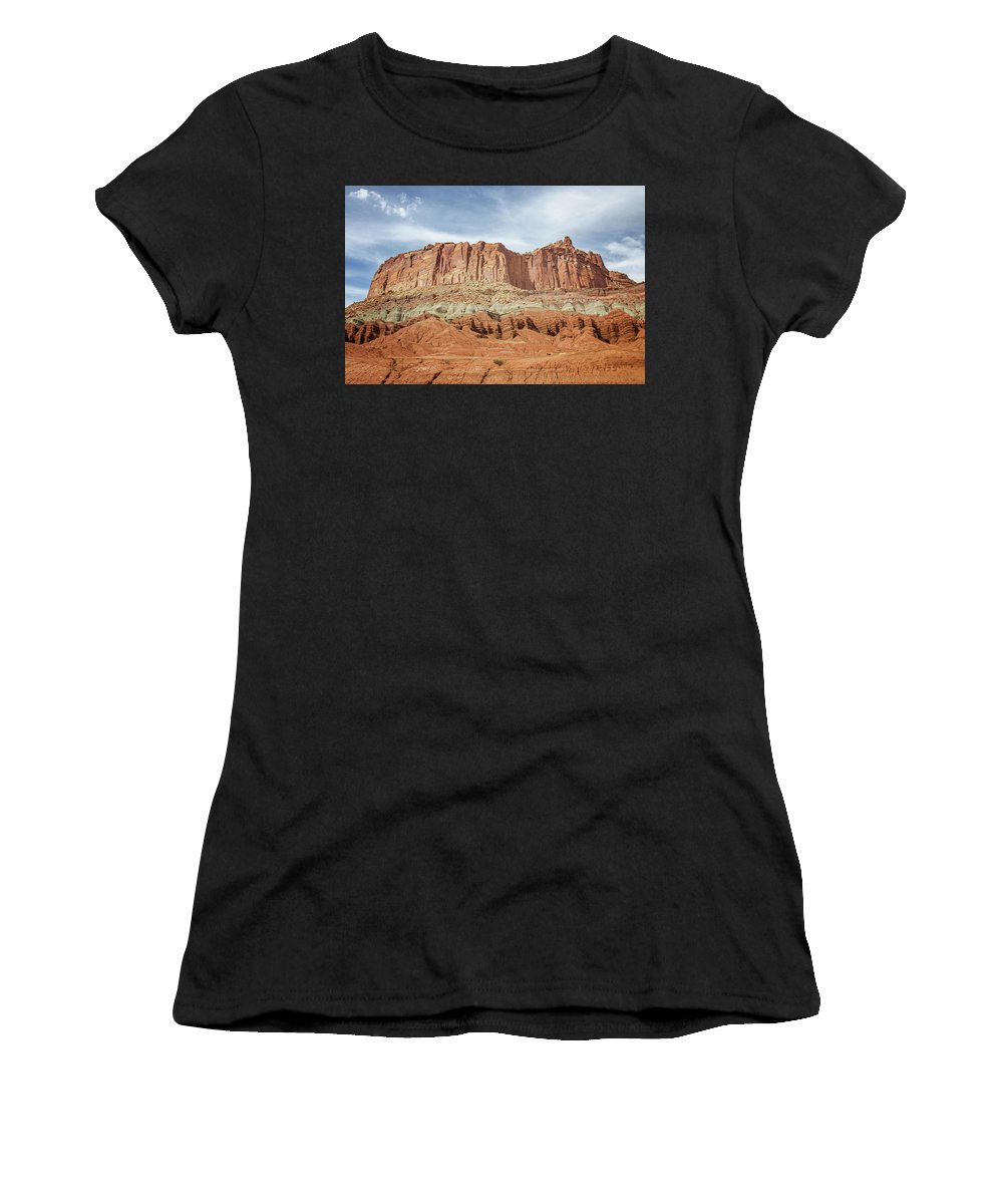 Capitol Reef 3 Women's T-Shirt (Athletic Fit) featuring the photograph Capitol Reef 3 by Susan McMenamin