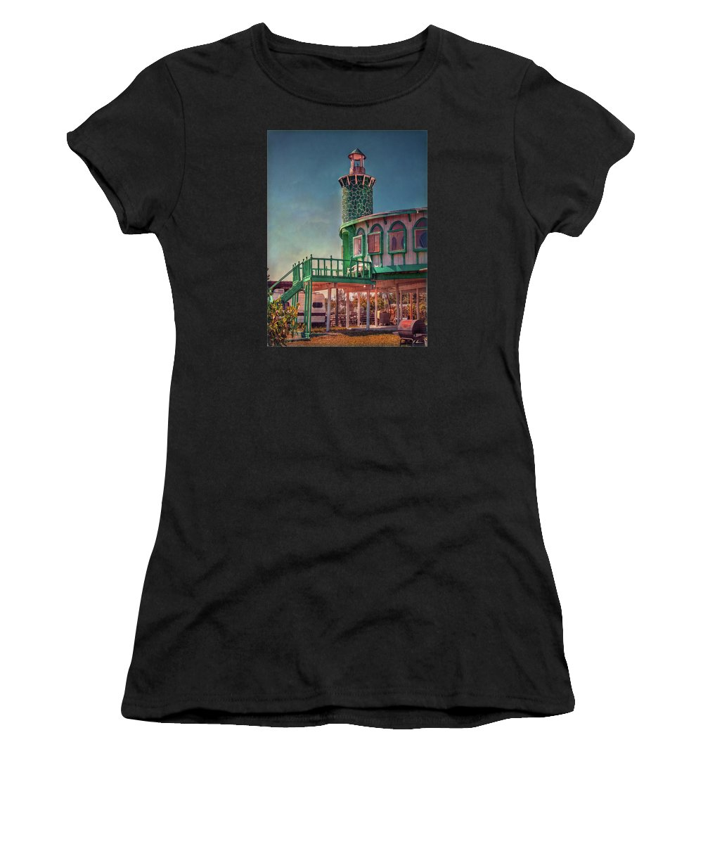 Florida Women's T-Shirt (Athletic Fit) featuring the photograph Captain Doug's Lighthouse by Hanny Heim