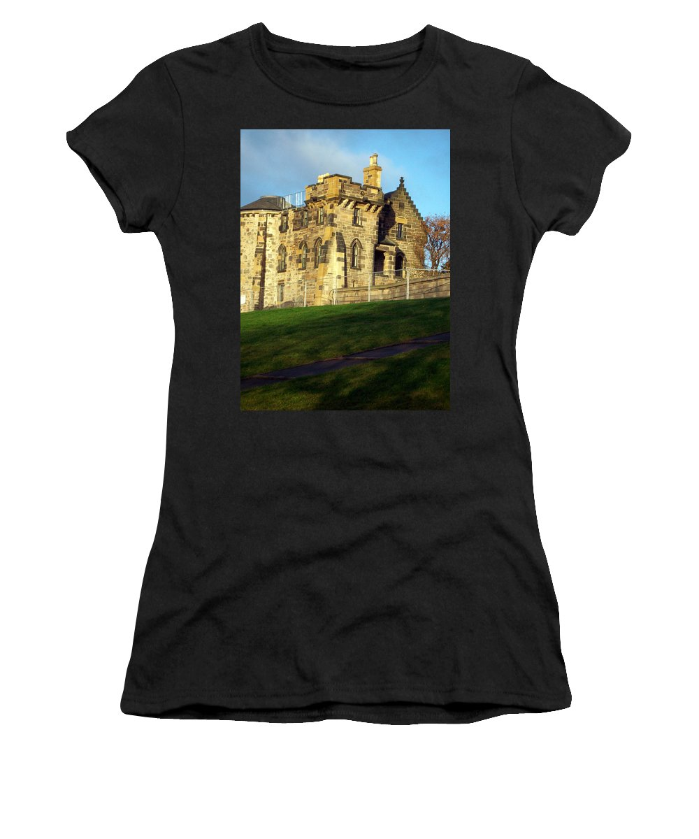 Scotland Women's T-Shirt featuring the photograph Caption Hill Building by Munir Alawi
