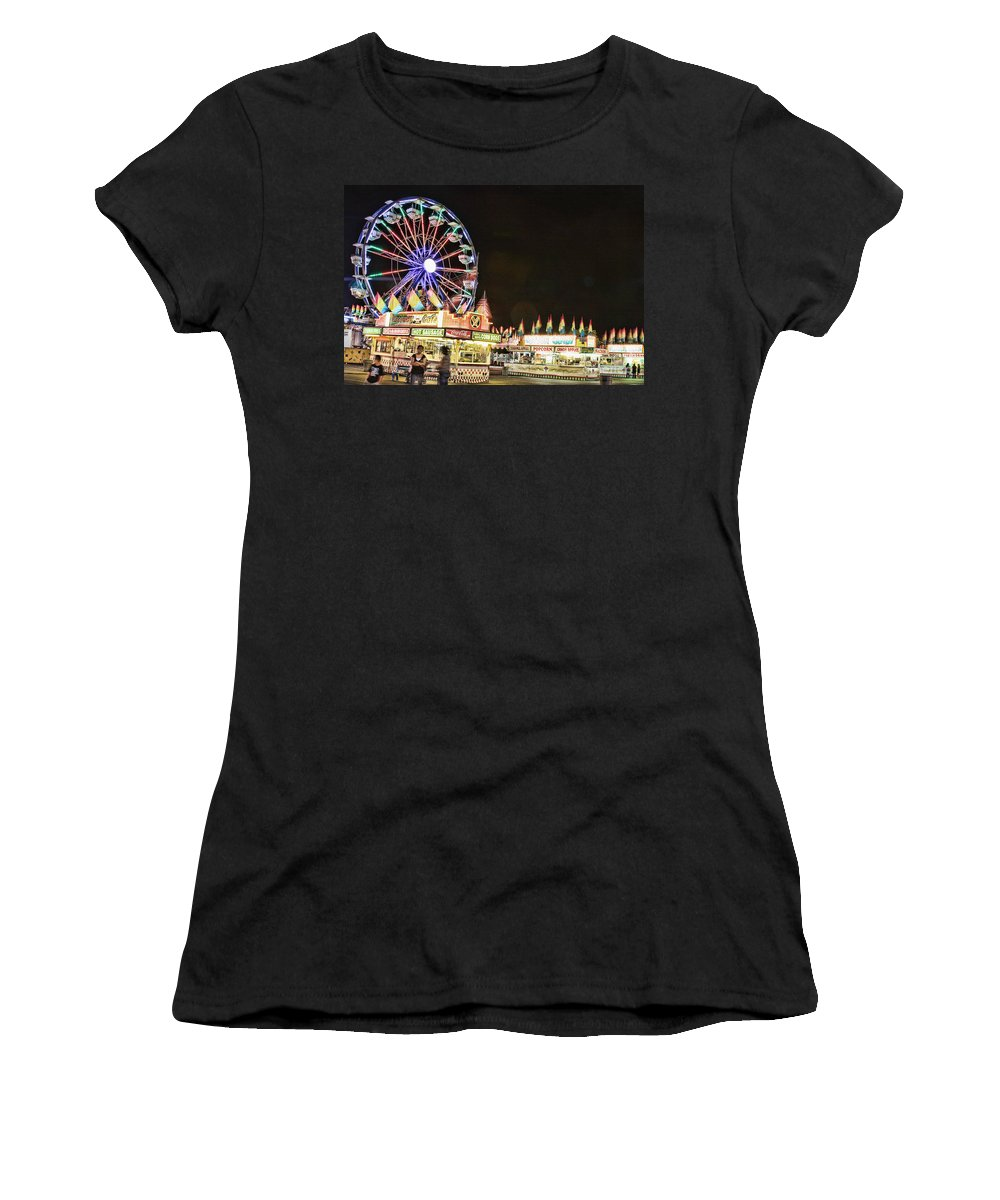 Carnival Images Women's T-Shirt (Athletic Fit) featuring the photograph carnival Fun and Food by James BO Insogna