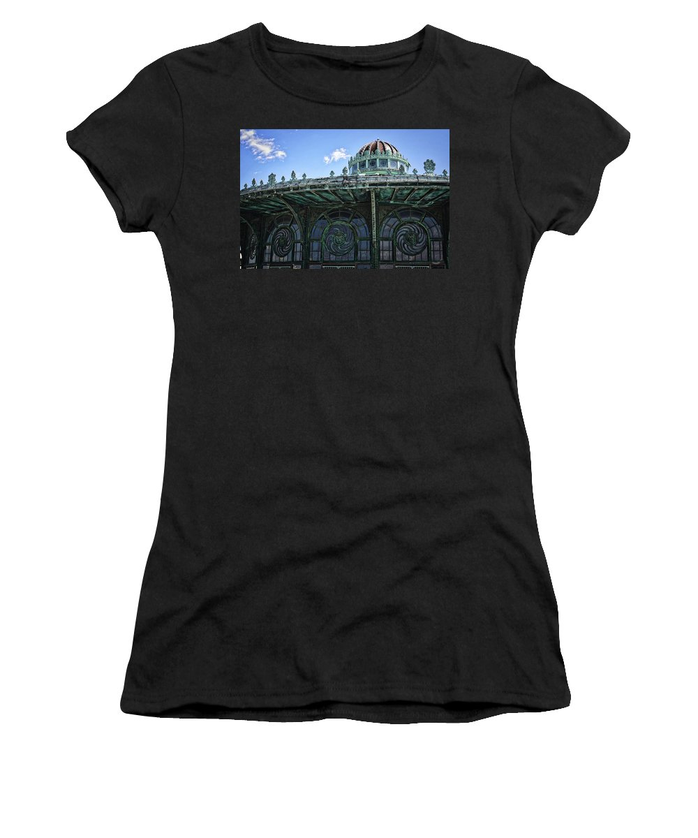 Photography Women's T-Shirt featuring the photograph Carousel by Raven Steel Design