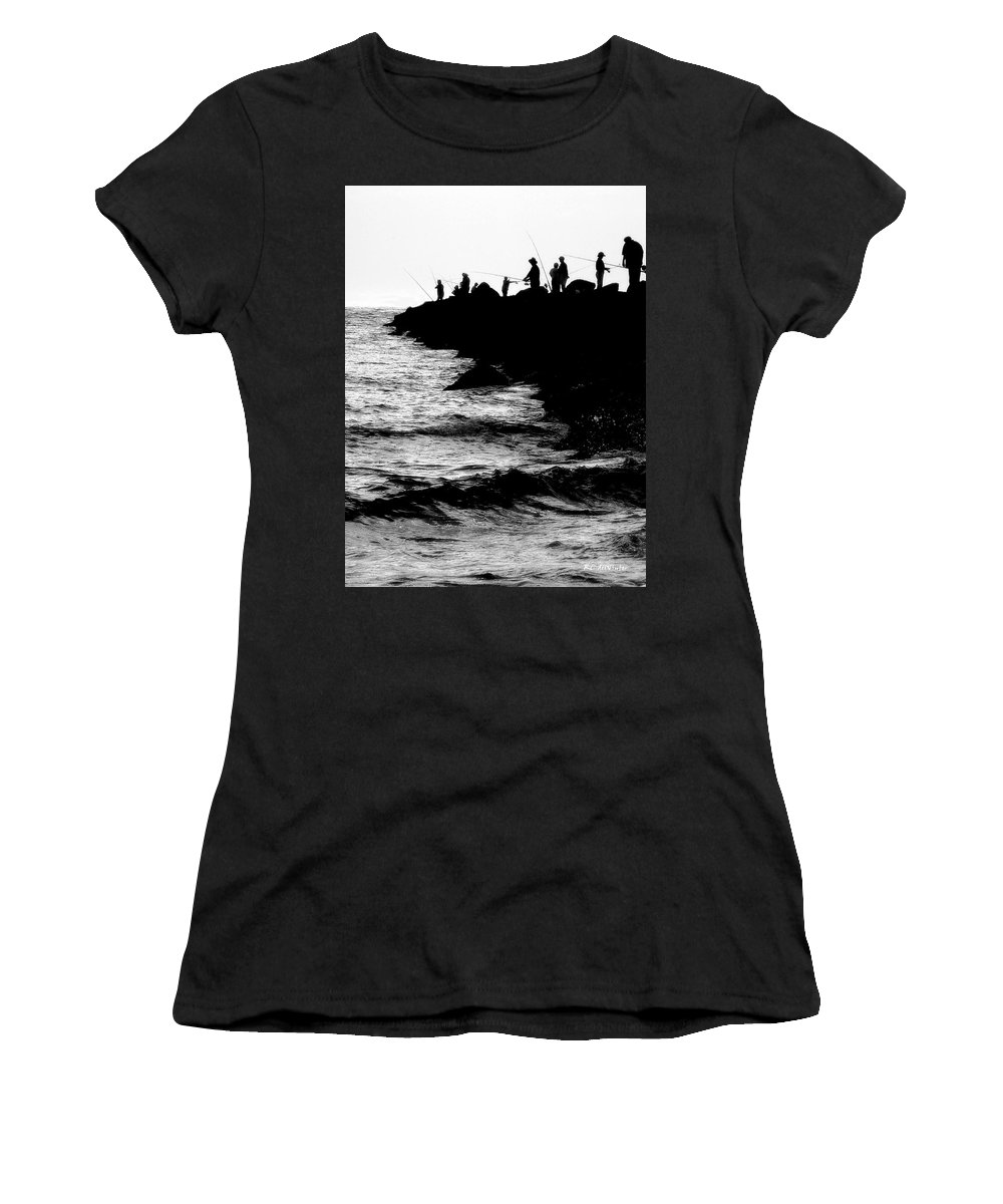 Fishing Women's T-Shirt (Athletic Fit) featuring the photograph Casting Shadows by RC DeWinter