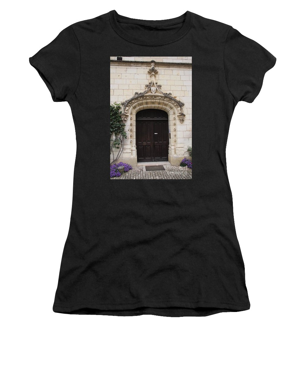 Door Women's T-Shirt featuring the photograph Castle Entrance Door by Christiane Schulze Art And Photography