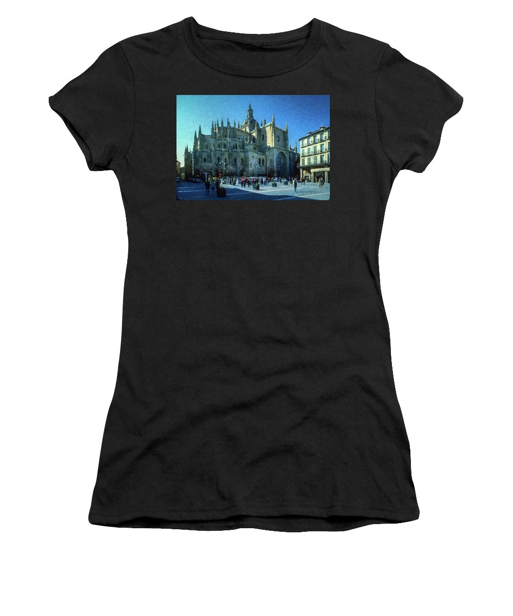 Cathedral Women's T-Shirt featuring the photograph Cathedral, Spain by Mike Penney