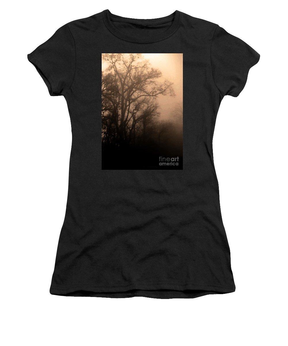 Soft Women's T-Shirt (Athletic Fit) featuring the photograph Caught Between Light And Dark by Amanda Barcon