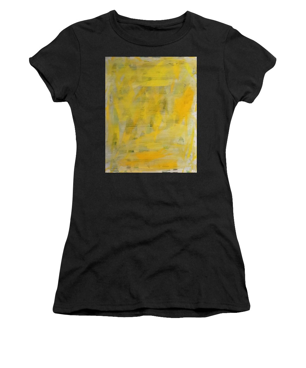 Yellow Women's T-Shirt (Athletic Fit) featuring the painting Caught by Marcus Mabry