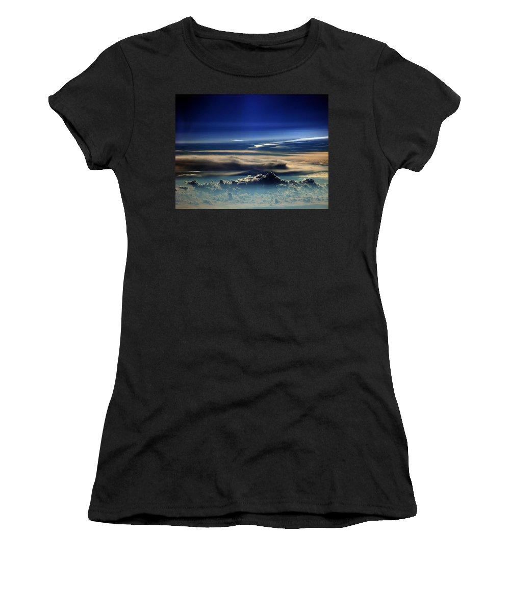 Cloud Art Women's T-Shirt (Athletic Fit) featuring the photograph Cb4.209 by Strato ThreeSIXTYFive
