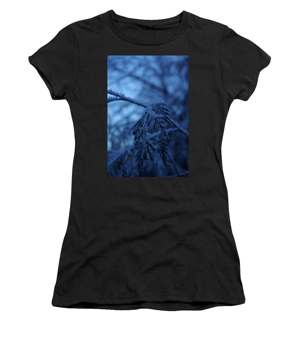 Cedar Women's T-Shirt (Athletic Fit) featuring the photograph Cedars Of Ice II by Cindy Johnston