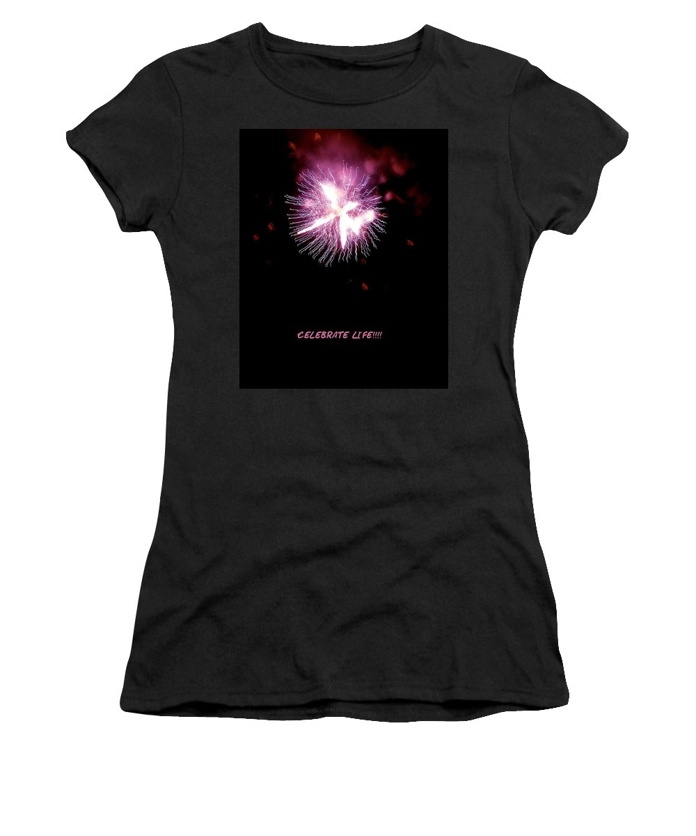 Fireworks Women's T-Shirt featuring the photograph Celebrate Life by Kendall Eutemey