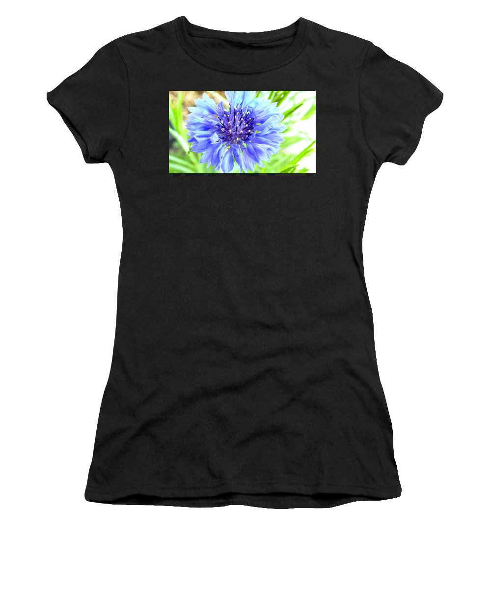 Tall Women's T-Shirt (Athletic Fit) featuring the photograph Centaurea Cyanus 1 by Chandra Nyleen