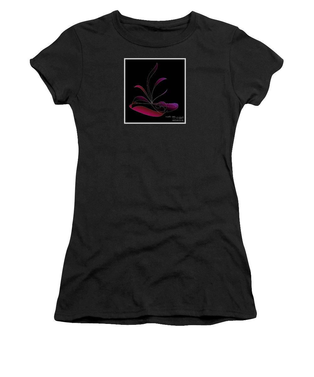 Centerpiece Women's T-Shirt (Athletic Fit) featuring the digital art Centerpiece 4 by Iris Gelbart