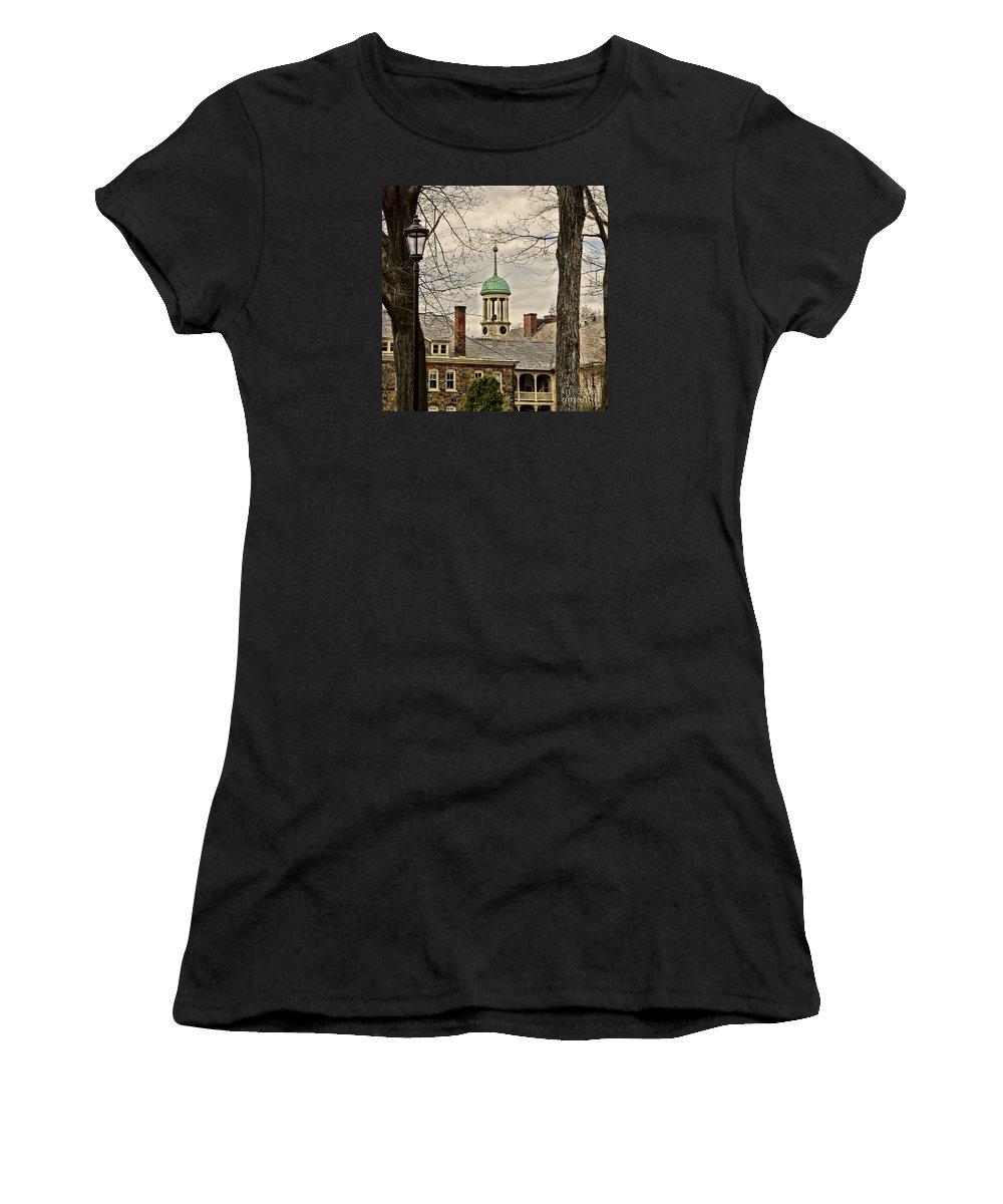 Bethlehem Women's T-Shirt featuring the photograph Central Moravian Church - Bethlehem by DJ Florek