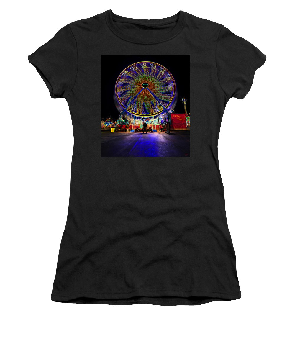 Ferris Wheel Women's T-Shirt featuring the photograph Century Wheel by David Lee Thompson
