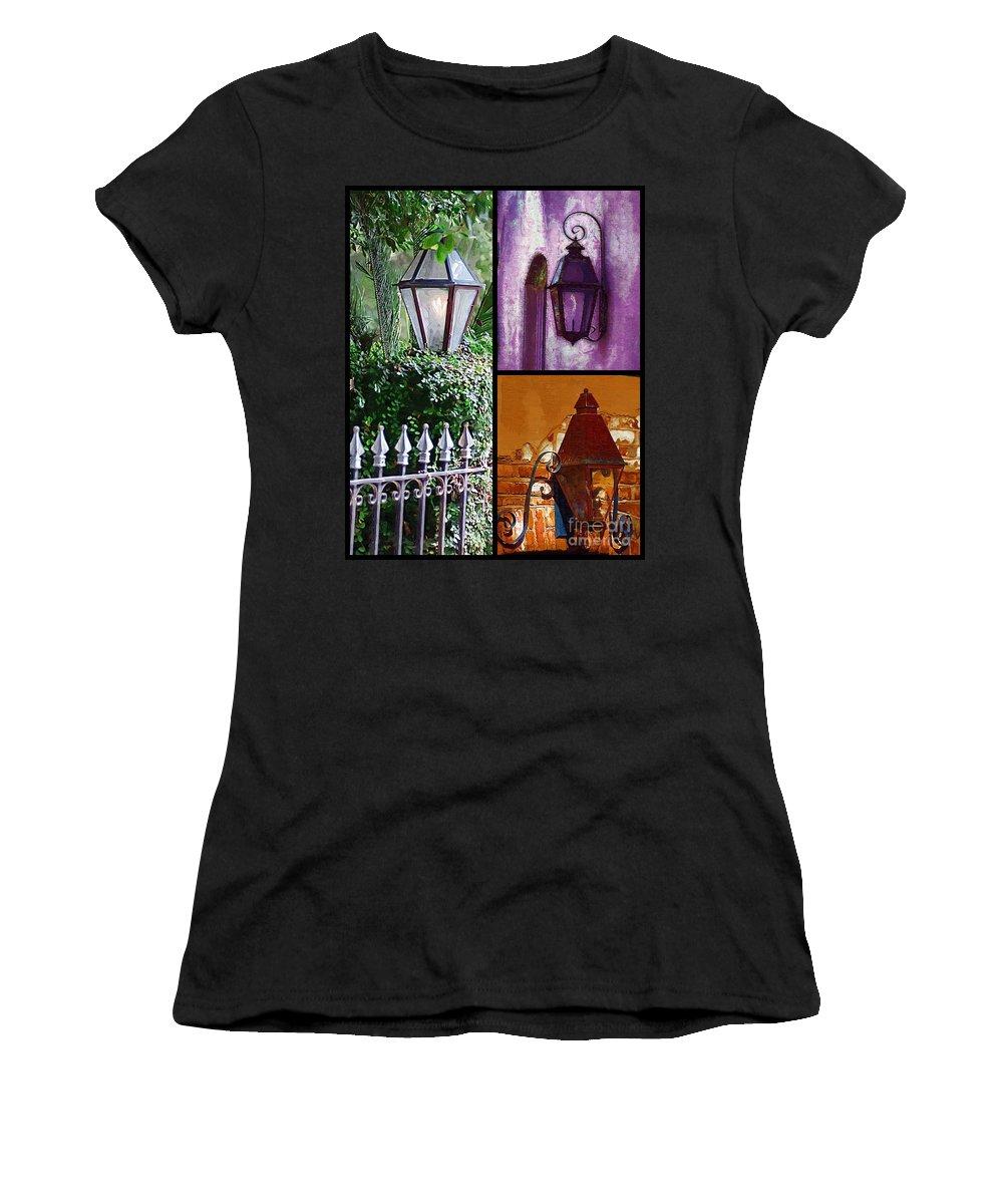 Charleston Lanterns Women's T-Shirt (Athletic Fit) featuring the photograph Charleston Lanterns by Donna Bentley