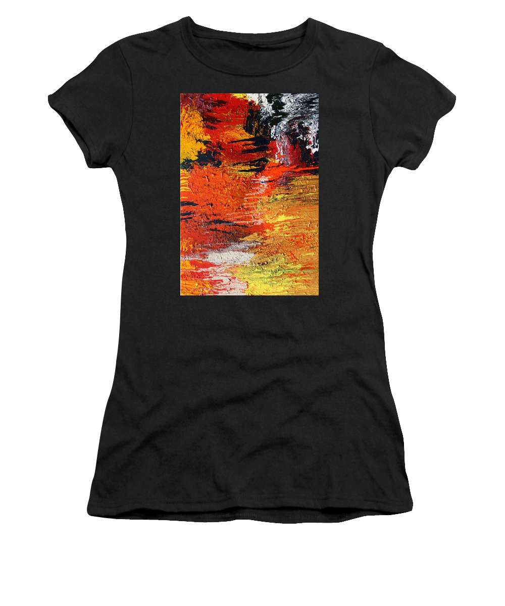 Fusionart Women's T-Shirt (Athletic Fit) featuring the painting Chasm by Ralph White