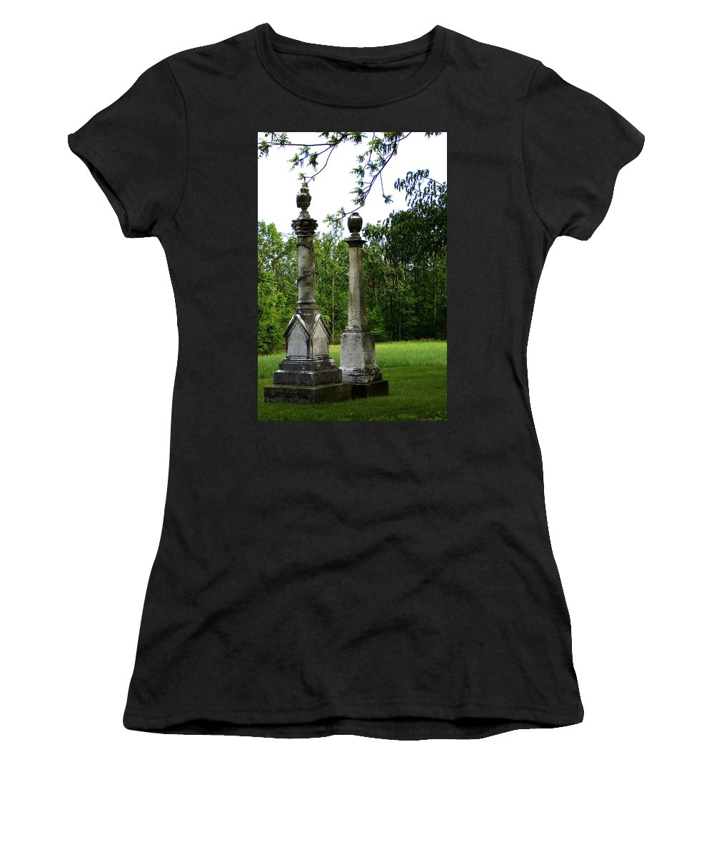 Landscape Women's T-Shirt (Athletic Fit) featuring the photograph Chess Game by Rachel Christine Nowicki