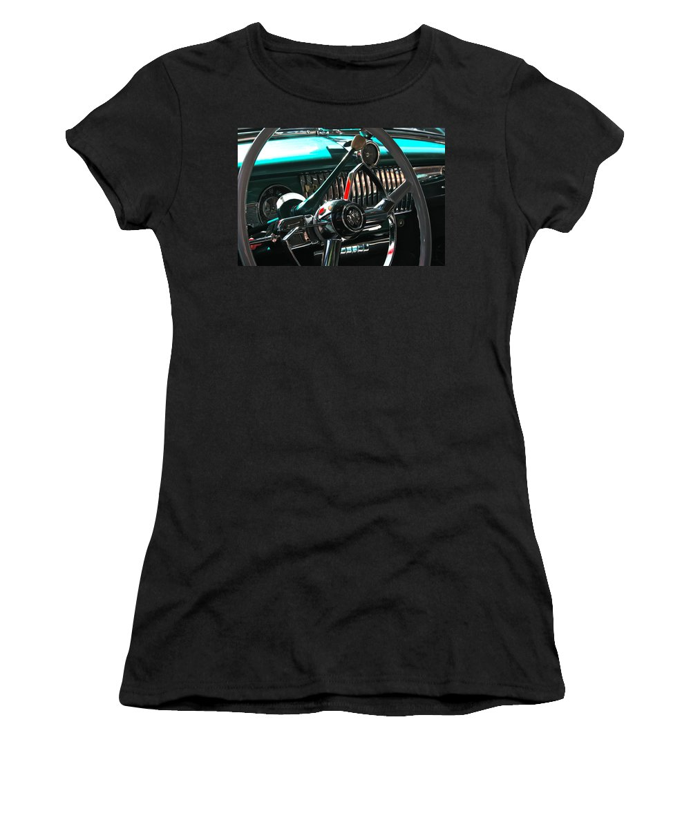 Photograph Women's T-Shirt (Athletic Fit) featuring the photograph Chevy Powerglide by Gwyn Newcombe