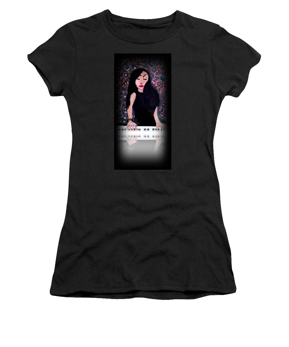 Art Women's T-Shirt (Athletic Fit) featuring the painting China Girl -print by Gregory McLaughlin