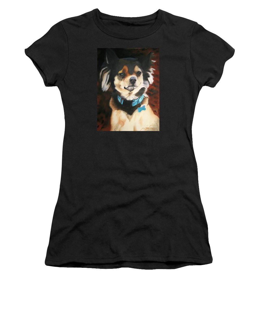 Dog Women's T-Shirt (Athletic Fit) featuring the pastel Chiwawa by John Huntsman