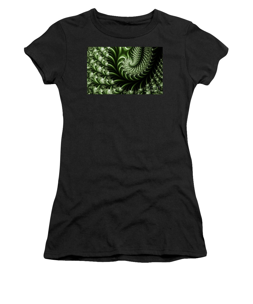 Clay Women's T-Shirt (Athletic Fit) featuring the digital art Chlorophyll by Clayton Bruster