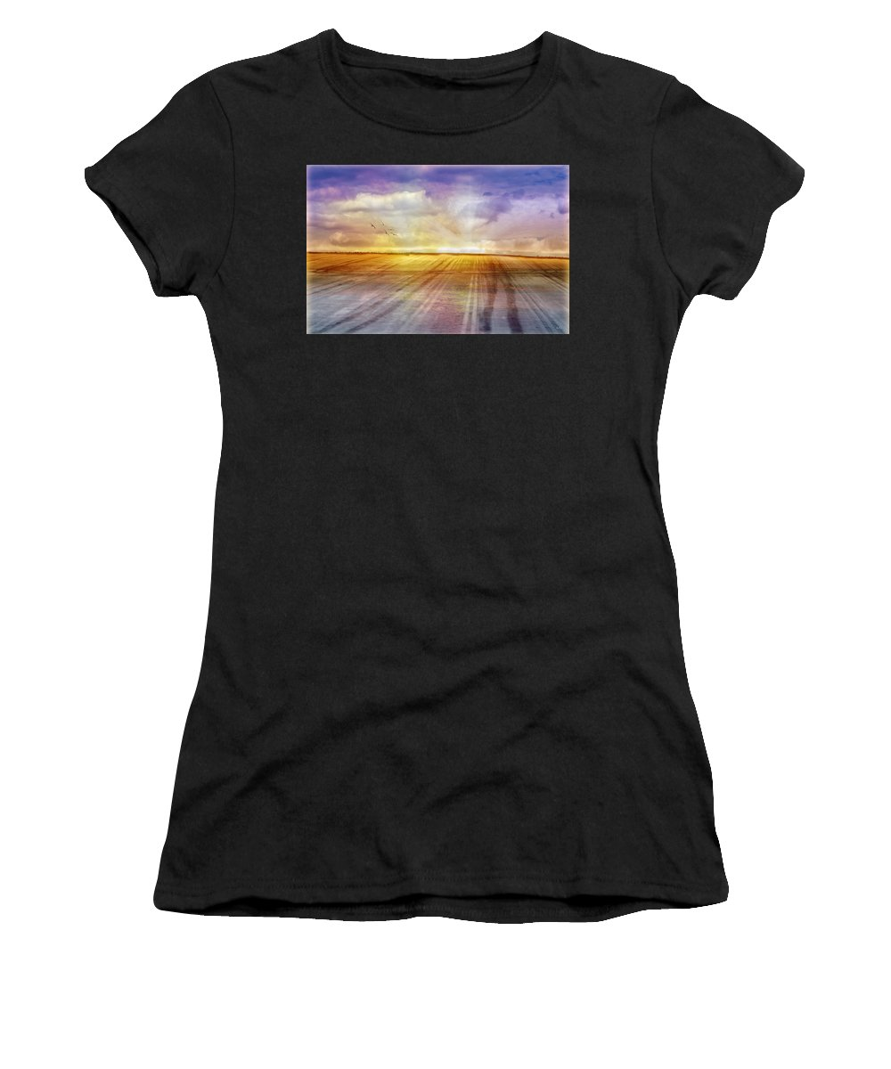 Landscapes Women's T-Shirt (Athletic Fit) featuring the photograph Choices by Holly Kempe