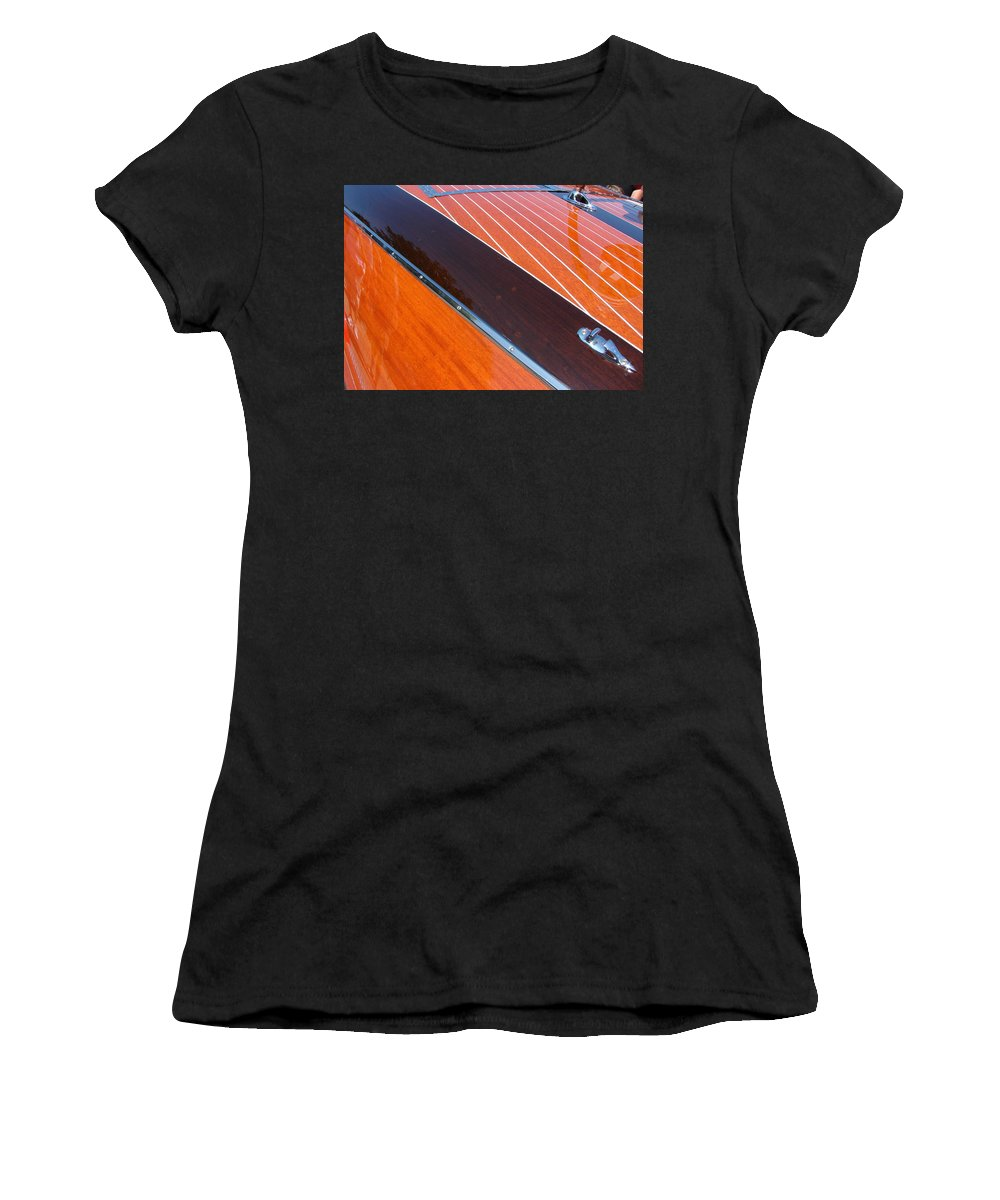 Classic Boat Women's T-Shirt featuring the photograph Chris Craft Powerboat by Michelle Calkins